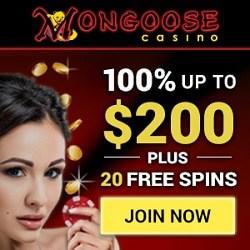 Mongoose 30 free spins no deposit bonus code