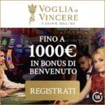 Voglia di Vincere Casino 1000 giri gratuiti bonus senza deposito!