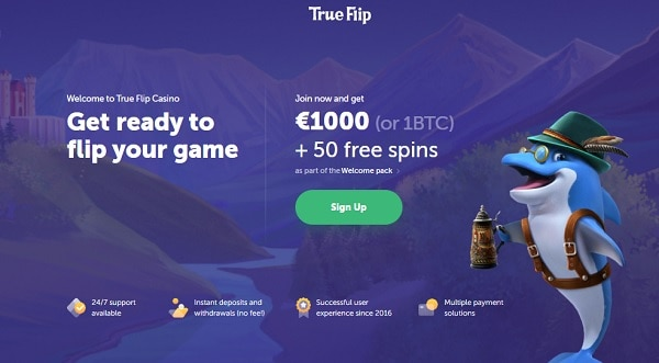 1.000 EUR welcome bonus and free spins