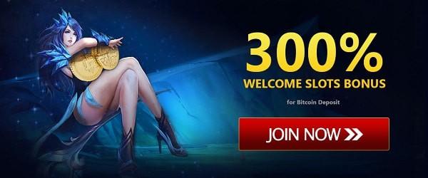 300% Slots bonus (Bitcoin)