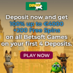 Dingo Casino 200 free spins + 400% bonus + €4000 gratis