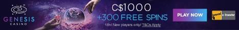 Genesis Casino 100% free bonus, free spins, no deposit bonuses | Fast payouts | NetEnt, Microgaming