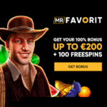 MrFavorit.com Casino 100 free spins and €200 bonus on deposit