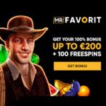MrFavorit.com Casino 100 free spins and €200 bonus on deposit