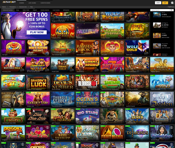 MrFavorit.com Casino Review