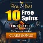 Play24Bet Casino - 10 free spins bonus no deposit required!