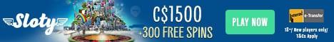 Sloty Casino 100% free bonus, free spins, no deposit bonuses | Fast payouts | NetEnt, Microgaming