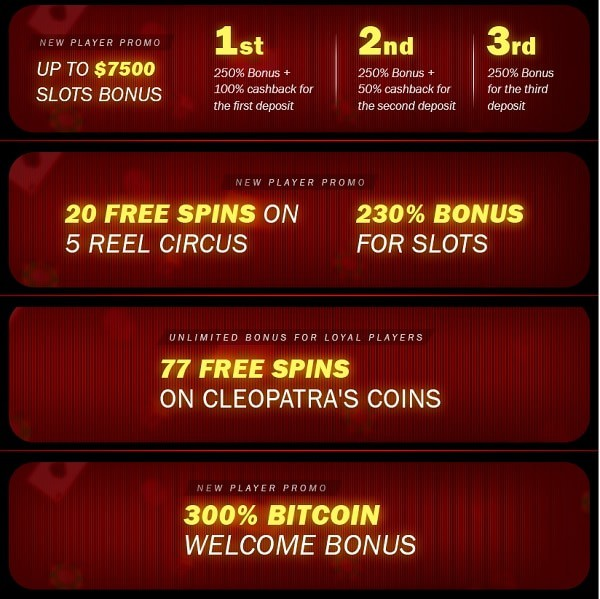 Superior Casino bonuses, promotions, free spins - full list