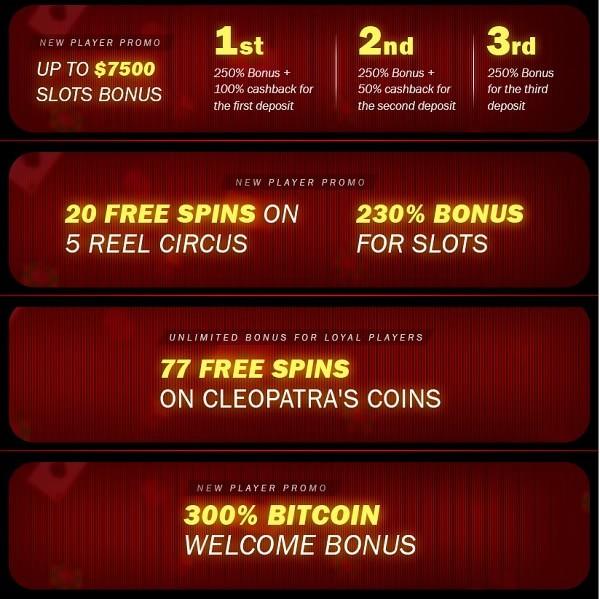 Superior Casino bonuses, promotions, free spins - full list