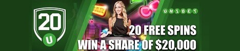 Unibet Casino 100% free bonus, 200 free spins, no deposit bonuses | Fast payouts | NetEnt, Microgaming