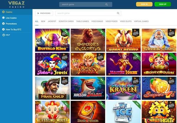 Vegaz Casino Online Free Bonus
