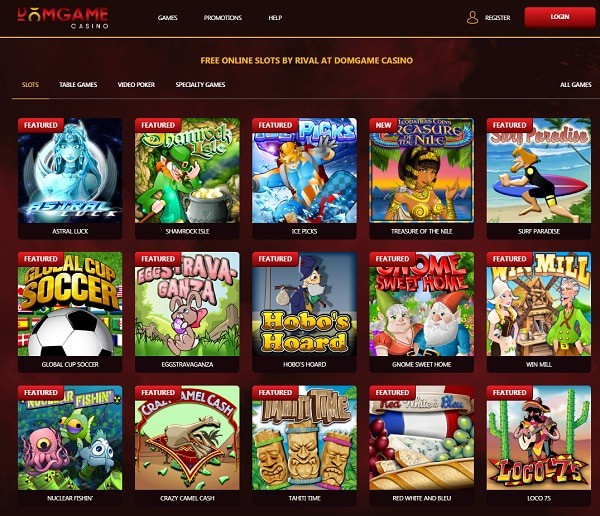 RIVAL Casino slots and table games