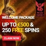 Royal Rabbit Casino - 250 free spins, no deposit bonus, promotion