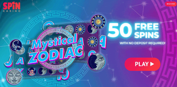 50 Extra Free Spins on Mystical Zodiac slot