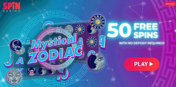 50 Extra Free Spins on Mystical Zodiac slot