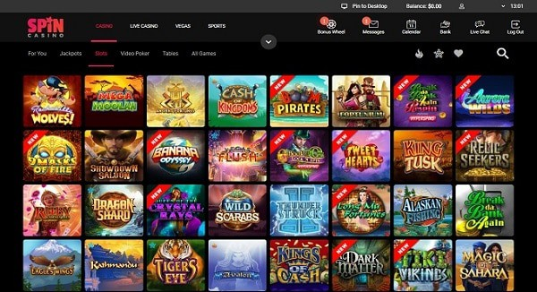 Spin Palace Casino Bonuses & Games