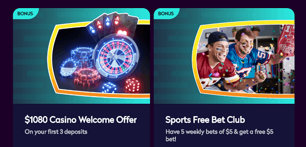 100% casino and sportsbonus bonus up to $200 and $100 respectively.