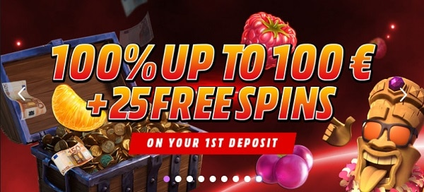 25 free spins on Aloha Cluster Pays