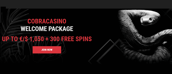 1,050 EUR bonus and 300 free spins