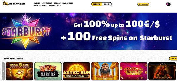 100 free spins on Starburst