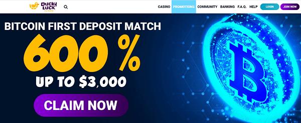Get 600% Welcome Bonus!