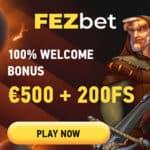 Fezbet Casino 200 Free Spins and No Deposit Bonus Code