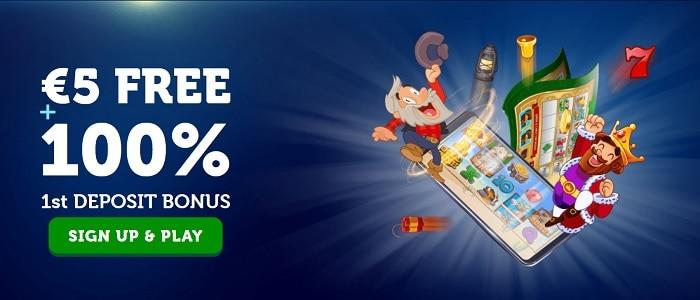 5 EUR + 100% Bonus