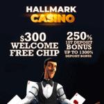 Hallmark Casino $300 free chip new player no deposit bonus