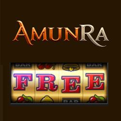 AmunRa Casino free spins bonus banner