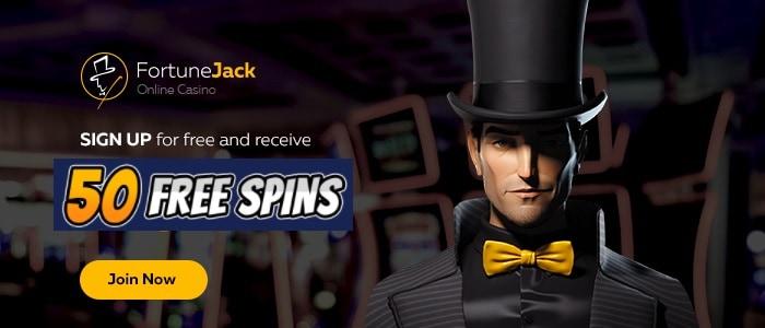 FortuneJack Free Spins on Registration