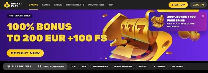 300% bonus and 100 free spins