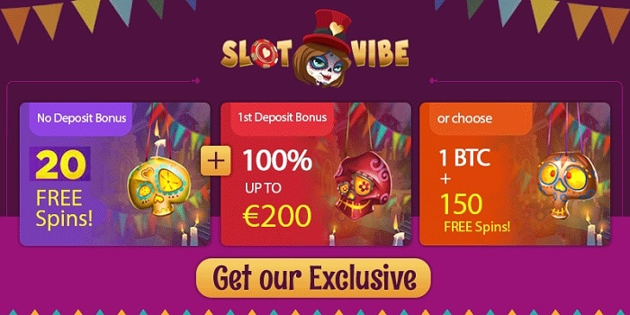 20 free spins no deposit + 100% bonus up to 200 EUR/1 BTC + 150 Free Spins