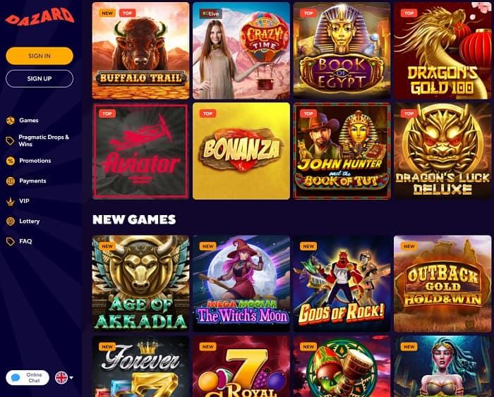 Dama NV Casino free spins bonus